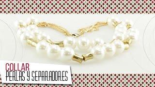 getlinkyoutube.com-Como hacer collar en perlas con herrajes dorados | VARIEDADES CAROL