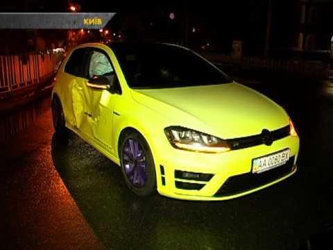 Авто ЧП. В Киеве Mitsubishi протаранил Volkswagen
