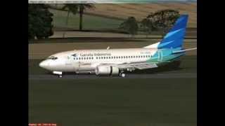 getlinkyoutube.com-Flight Simulator X - Jakarta - Lampung - B-737 500