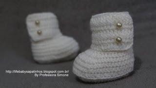 getlinkyoutube.com-Passo a passo bota cano alto pra Bebê em crochê  Parte-1