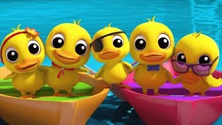 five little ducklings | nursery rhymes farmees | kids songs | 3d rhymes