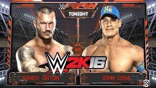 getlinkyoutube.com-WWE 2k16 - Randy Orton Vs. John Cena Match Gameplay [1080p 60fps]