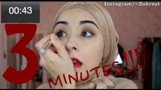 getlinkyoutube.com-3 Minute Makeup Challenge - Fun Video !!!