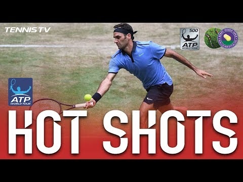 Roger Federer Hot Shot Mesmerises In Halle Final 2017