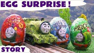getlinkyoutube.com-Surprise Eggs Tom Moss The Prank Engine Thomas And Friends Funny Thomas Tank Episode Kids Toy Story