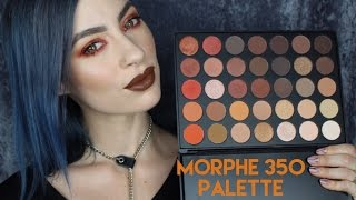 Morphe 35O Palette | First Impressions + Grunge Eye Makeup Tutorial