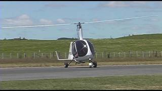 getlinkyoutube.com-The test flight of a new UFO autogyro variant at Tokoroa Airfield