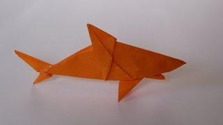getlinkyoutube.com-How To Make Scott's Origami Shark (Mano) 1 of 2