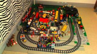 getlinkyoutube.com-LEGO CITY PASSENGER and CARGO TRAIN SETS