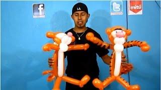 getlinkyoutube.com-tigger de globos - tigger balloon twisting- Decoraciones con globos