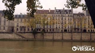 Ile Saint-Louis in Paris France