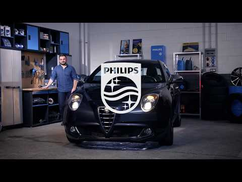 PHILIPS УЧЕБНИК - Как заменить лампы головного освещения на вашем Alfa Romeo MiTo