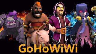 [비엠coc/완파영상]  쌍자붐에 대처하는 9홀중반 고호위위(GoHoWiWi) -통ㅋ -Clash Of Clan