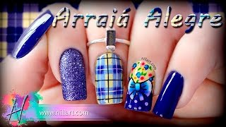 getlinkyoutube.com-Nail Art Arraiá Alegre - Nill Art