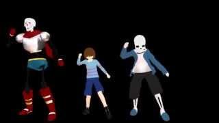 getlinkyoutube.com-[MMD undertale] Spooky scary skeletons