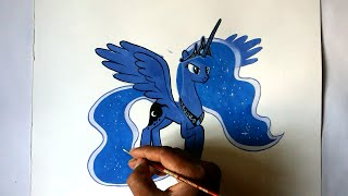 getlinkyoutube.com-how to draw my little pony Princess Luna Alicorn pony