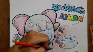 getlinkyoutube.com-ระบายสี   การ์ตูน ช้าง JUMBA จาก Zoovivor   วาดการ์ตูน กันเถอะ