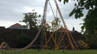getlinkyoutube.com-Gargantuan 8 foot K'nex Roller Coaster with POV