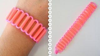 getlinkyoutube.com-DIY Comment faire un bracelet avec des pailles paracord créacord