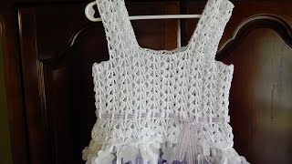 getlinkyoutube.com-Blusa para Vestido 8 a 10 años Crochet