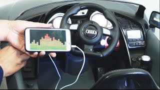 getlinkyoutube.com-Audi R8 GT SPYDER Ride On Car  - How To Connect Mp3