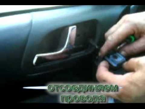 Как снять карту двери на шкода октавия тур