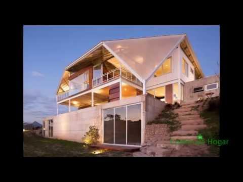 Fachadas y diseño de casas modernas en la colina