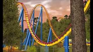 Nitro - Six Flags Great Adventure (HD) RCT3 Reconstruction