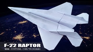 getlinkyoutube.com-Best Paper Planes - How to make a paper airplane that FLIES | F-22 Raptor