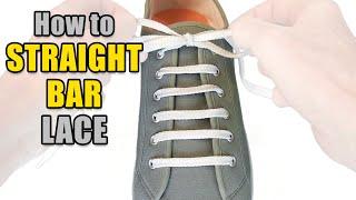 getlinkyoutube.com-How to Straight Bar Lace your shoes - Professor Shoelace