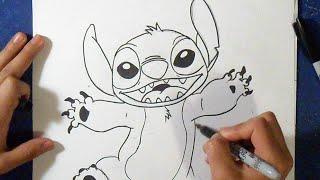 getlinkyoutube.com-Cómo dibujar a Stitch   How to Draw Stitch