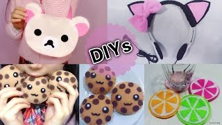 getlinkyoutube.com-4 Cute DIYs: DIY Rilakkuma Handbag+Cat Headphone+Lemon Cup Coaster+Chocolate Cookie Toy