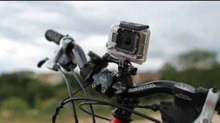 getlinkyoutube.com-Handlebar / Seatpost Pole Mount on Bicycle / MTB - GoPro Tip #230