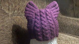 getlinkyoutube.com-Как связать шапочку Кошачьи Ушки для ребенка спицами
