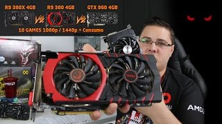 Review - AMD R9 380X 4GB vs GTX 960 4GB vs R9 380 4GB em 10 GAMES 1080p e 1440p