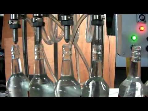Máquina Llenadora de Líquidos Sistema Volumétrico.