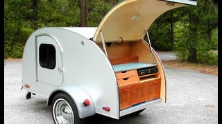getlinkyoutube.com-Teardrop Camping on the Open Road with Tiny Trailer