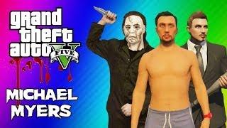 getlinkyoutube.com-GTA 5 Online Maze Murderer - Michael Myers Mini Game FUN! (GTA 5 Funny Moments)