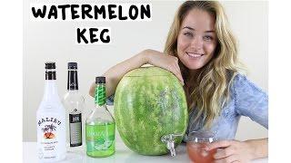 getlinkyoutube.com-How to make a Watermelon Keg - Tipsy Bartender