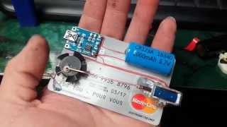 getlinkyoutube.com-Tiny Solenoid Motor on a Credit Card
