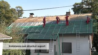 Renovarea acoperişului cu profile Finnera de la Ruukki