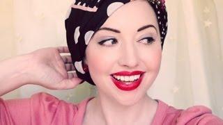 getlinkyoutube.com-Four New Ways to Tie a Headscarf. More Vintage Glamour!