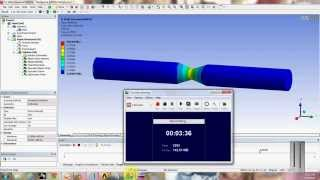 getlinkyoutube.com-Ansys tensile test analysis in ansysworkbench