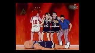 getlinkyoutube.com-Slam Dunk anime - Sakuragi Hanamichi Killer/KO Dunk! (eng sub)