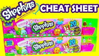 getlinkyoutube.com-Shopkins Season 2 Cheat Sheet 2 20 Mega Packs of Shopkins Season 2