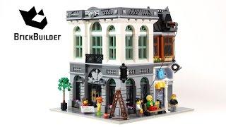 getlinkyoutube.com-Lego Creator 10251 Brick Bank - Lego Speed Build