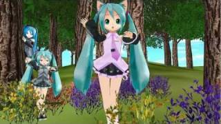 getlinkyoutube.com-【VOCALOID MMD】Chibi Miku Hatsune Nekomimi Switch