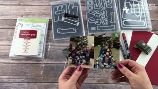 getlinkyoutube.com-Project Life Christmas Project Life Layout with Stampin' Up!