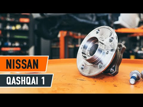 How to replace a Rear wheel bearing on NISSAN QASHQAI 1 TUTORIAL   AUTODOC