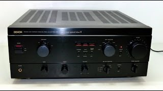 getlinkyoutube.com-Denon PMA 1560 Vollverstärker Bolide Amplifier